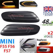 2x LED Side Scuttle Indicator Repeater Light For BMW MINI COOPER S F55 F56 F57