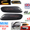 LED Indicators Black for Mini F55 F56 F57 2014- Smoke Tint SMD Cooper S JCW One