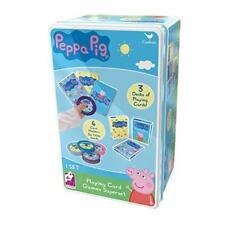 Peppa Pig Super 3 Tin Jumbo Playing Card Game Superset for Boys & Girls 5+