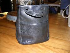 Vintage Leather Coach Black Sonoma Drawstring Handbag.