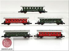 Z 1:220 escala Märklin mini-club vagones pasajeros cars Coche coach Set 5x <