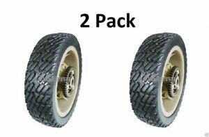 """2 Pack Stens 205-670 8"""" Plastic Gear Drive Wheel for Lawn Boy Toro 92-1042 43T"""