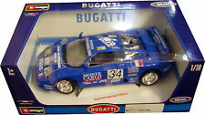 BURAGO 1/18 DIECAST MODEL BUGATTI EB110 SUPER SPORT 1994 RACE BU11039