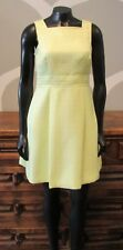 MiXT by HEIDI WEISEL Citron Yellow Green Textured Fit and Flare Dress - 4P