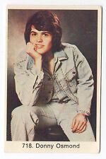 1970s Swedish Pop Star Card #718 US Heartthrob Teen Idol Singer Donny Osmond
