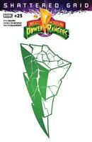 Mighty Morphin Power Rangers #25 2nd Print Variant shattered grid