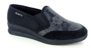 GAVIGA ELECTA 5678 col nero pantofola confort scarpa zeppetta comoda antiscivolo