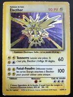Carte Pokemon ELECTHOR 16/102 Holo Set de Base Wizard FR