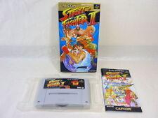 STREET FIGHTER II 2 Super Famicom Nintendo Capcom Japan Boxd Game sf