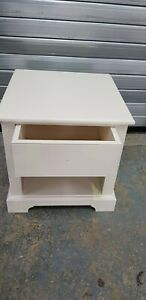 1 Drawer Pine Painted Bedside Cabinet Light Table Solid Wood Bedroom Nightstand