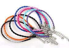 Wholesale 10pc mixed twist leather cord Rope Bracelets cord