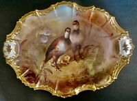 Limoges France Game Bird Platter National Art Association Artist Signed Plate