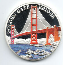 Golden Gate Bridge Silver Coin San Francisco Alcatraz Island Prisoner California