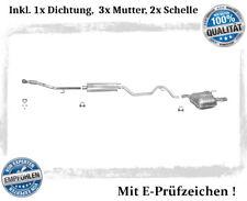 Auspuffanlage Opel Vectra C 1.6 1.8 Auspuff mit Chromblende Schelle Flexrohr