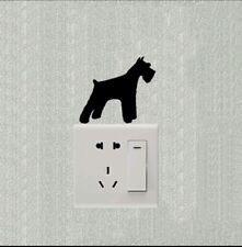 Schnauzer light switch decal sticker bedroom home decor