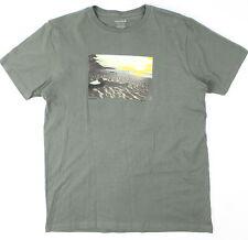 Nixon Mens Eventide Short Sleeve T-Shirt Charcoal M New