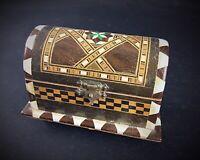 Jolie boîte à bijoux Vintage en bois style coffre ancien