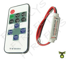 LED Strip 12v controller and wireless RF remote with flashing fading effects
