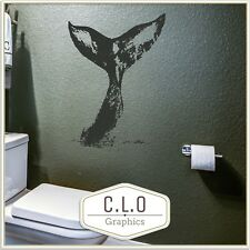 Giant Whale Tail Vinyl Wall Sticker Whale Watching Art Decor Transfer Decal UK