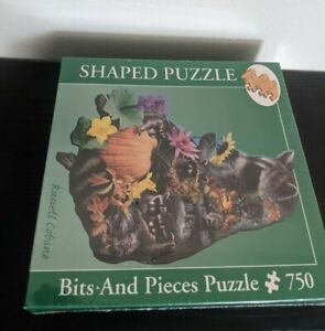 Little Bandits 750 Pc Shaped Puzzle - Russell Cobane Art Raccoons NEW SEALED