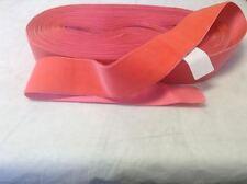 "1 1/2"" Bring Pink FRENCH Antique Vintage Silk Rayon Satin Back Velvet Ribbon"