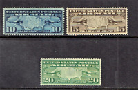 """1926 U.S. Classic Early Airmail  """"Map"""" COMPLETE SET  Sc#C7-9 M/NH/OG ** WOW!"""