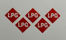 LPG Stickers x5  --Reflective Red LPG Number Plate Stickers--