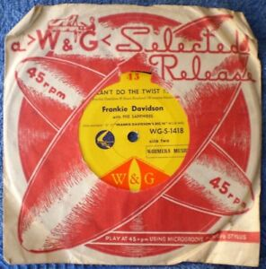 "FRANKIE DAVIDSON-I CAN'T DO THE TWIST/HAVE YOU EVER BEEN TO SEE  ""RARE OZ""  45"