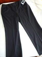 Women's Black Pinstripe Pants Size 14W Jones New York NWT