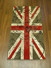 NICE QUALITY NOVELTY 60CMX110CM APROX 4X2FT WOVEN RUG/MAT STAMPED UNION JACK RED