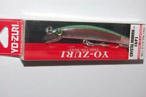 """yo zuri crystal minnow  suspending 3 1/2"""" 1/4oz r1131-hnm rainbow trout"""