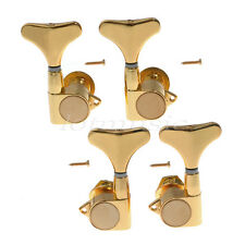 Bass Guitar Tuning Pegs Keys Tuners Machine Heads Set 2L2R Gold