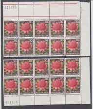 AUSTRALIA196830c Waratah Both Plate Blocks of 10MHFREE LOCAL POST