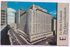 The Queen Elizabeth Hotel Le Reine Elizabeth Montreal Quebec Vintage Postcard