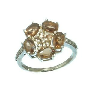 SMOKEY TOPAZ NATURAL GEMSTONE 925 SOLID STERLING SILVER JEWELRY RING 4 TO 12