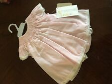 Baby Girl Dress 6m Organdy Layette