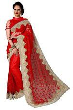 Sari Indian Ethnic Designer Net Embroidery Saree for Wedding Party wear (K769)