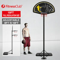 10FT Basketball Hoop Stand Backboard System Portable Height Adjustable Outdoor
