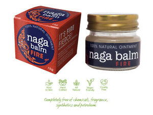 Naga Balm Fire - 100% Natural Muscle Ache Pain Relief Ointment - 15g