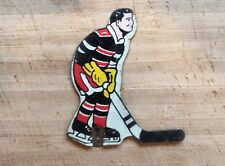 Rare 1950's Poosh-M-Up Table Hockey Player - Black/Red Team Munro, Eagle,Coleco