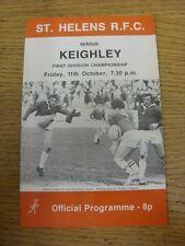 11/10/1974 liga de rugby programa: St Helens V Keighley. artículo parece estar en