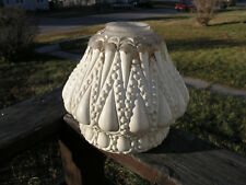 Ceiling Light Frosted Glass Shade Art Deco Globe Lamp Embossed Artichoke