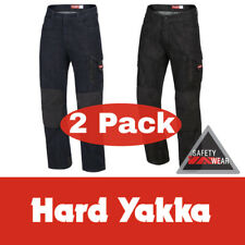 2x Hard Yakka Denim Jeans Legends ALL SIZES Cotton Blue Black Work Pants Y03041