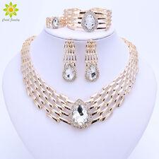 Big Choker Nigerian Wedding Dubai Gold Plated Party Costume Bridal Jewelry Sets