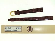 NEW DOWNING BROWN CROCODILE CALF LEATHER 10 MM WATCH BAND