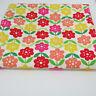 Retro flowers by Sevenberry 100% cotton patchwork & quilting fabric per FQT