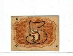 "5 CENT (FR-1234) ""FRACTIONAL "" 1800'S  ""FRACTIONAL CURRENCY"" CRISPY!! RARE NOTE!"