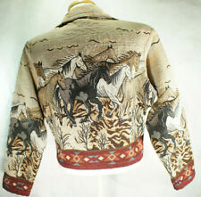 Vtg🐎 SOUTHWEST CANYON🐴Large▸Horses▸Equestrian▸Tapestry▸Woven Jacket ▸Womens