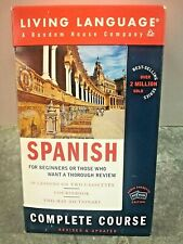 Spanish Living Language Complete Edition 40 Lessons 2 Cassettes w/ Dictionary