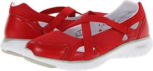 Propet Women's TravelLite Mary Jane Comfort Walking Shoes, Red ( 6 Extra Wide )